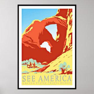 Vintage Poster Print See America United States