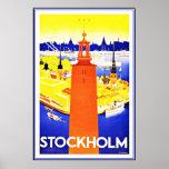 Vintage Poster Print Stockholm Large Poster