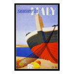 Vintage Poster Print Summer In Italy