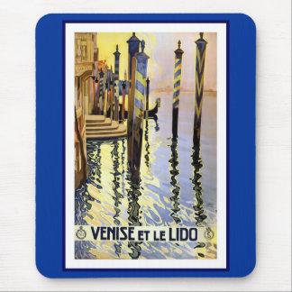 Vintage Poster Print Venise Et Le Lido Italy Mouse Pad