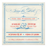 Vintage Poster Red, White & Blue Save the Date Personalized Announcement