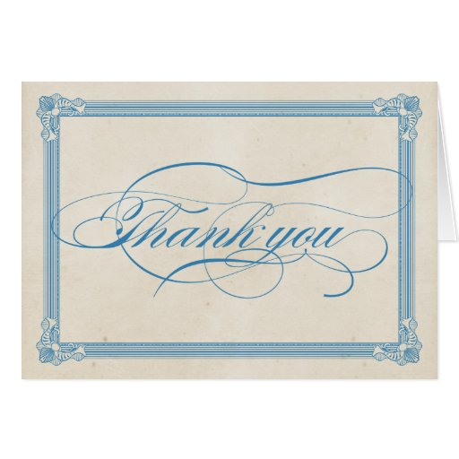 Vintage Poster Red, White & Blue Thank You Card