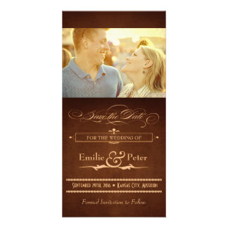 Vintage Poster Rich Brown Save the Date Custom Photo Card