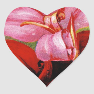Vintage poster rose growers 1897 heart sticker