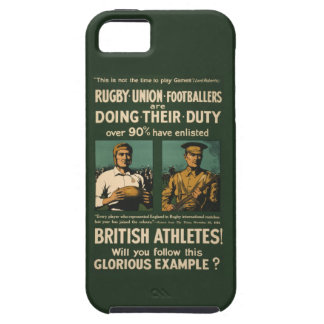 Vintage Poster: Rugby players call for duty iPhone SE/5/5s Case
