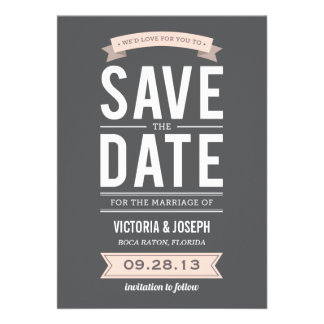 VINTAGE POSTER | SAVE THE DATE ANNOUNCEMENT
