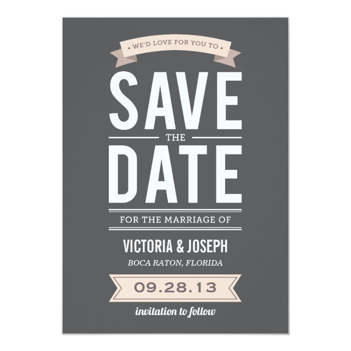 Online save the date announcements