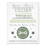 Vintage Poster Save the Date soft ocean 4.25x5.5 Paper Invitation Card