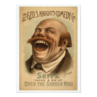 Vintage Poster: Snitz Over the Garden Wall Card
