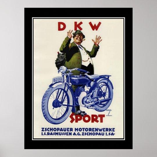 Vintage poster Sports Motorbyke