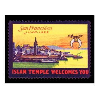 Vintage Poster Stamp Postcard, Shriners SF 1922 Postcard