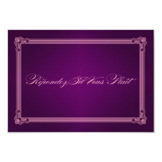 Vintage Poster Style Purple RSVP Cards Custom Invite