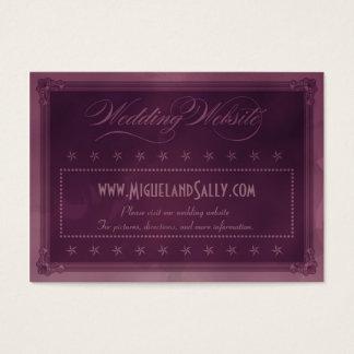 Vintage Poster Style Purple Wedding Website Business Card