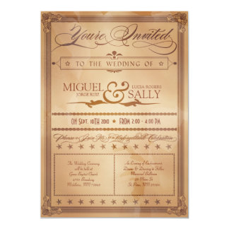 Vintage Poster Style Sepia DIY Wedding Invitation