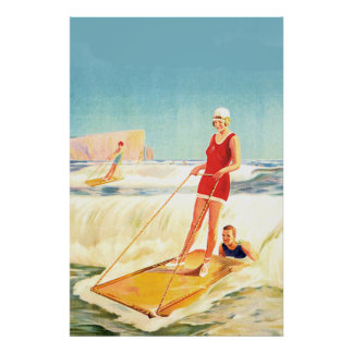 Vintage Poster Surfing Art deco Posters