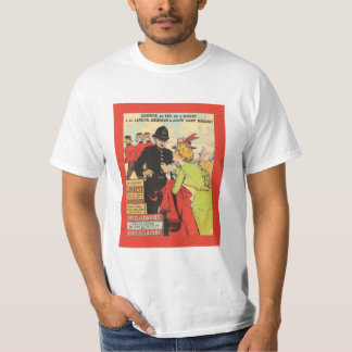 Vintage poster, Train from Paris to London T-Shirt