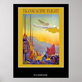 Vintage Poster Transpacific Flights