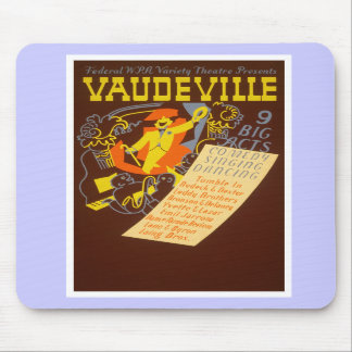 Vintage Poster Vaudeville Illustration Mousepad