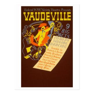 Vintage Poster Vaudeville Illustration Postcards
