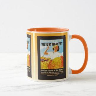 Vintage poster, Victory Harvest, World War II Mug