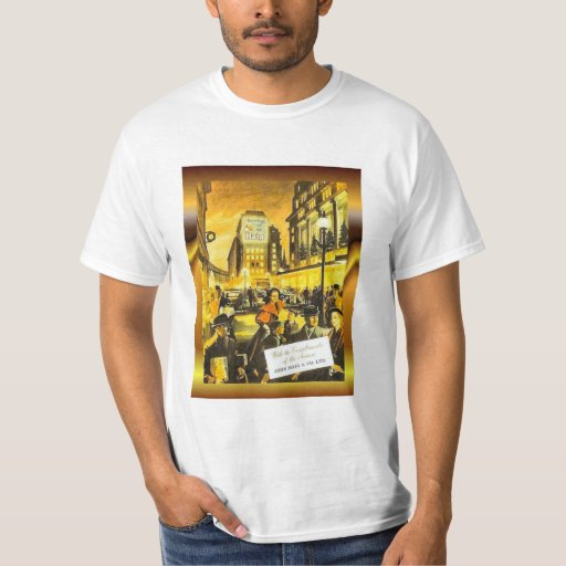 Vintage poster wjohn haig and co whisky t shirt zazzle for Vintage t shirt company