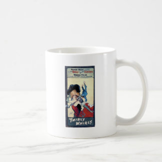 vintage poster woman bell boy red dress coffee mug