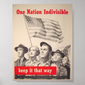 Vintage Poster  World War II