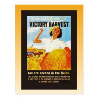 Vintage poster, World War II, Victory Harvest Postcard