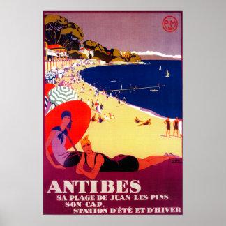 Vintage PosterEurope de Antibes Póster