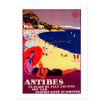 Vintage PosterEurope de Antibes Tarjetas Postales