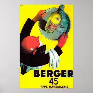 Vintage PosterEurope de Berger 45 Póster