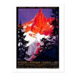 Vintage PosterEurope de Chaine De Mont Blanc del L Tarjetas Postales