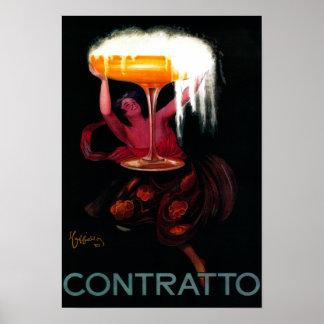 Vintage PosterEurope de Contratto Póster