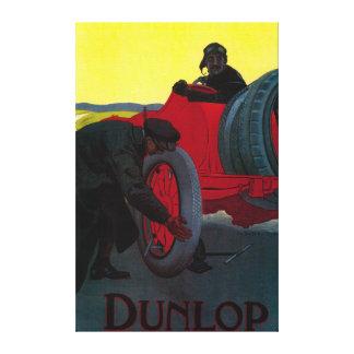 Vintage PosterEurope de Dunlop Impresión En Tela