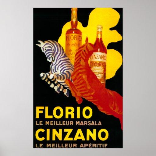 Vintage PosterEurope de Florio Cinzano Póster