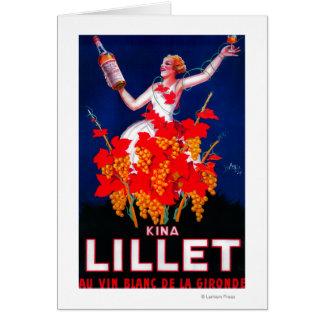 Vintage PosterEurope de Lillet de las kinas Tarjeta De Felicitación