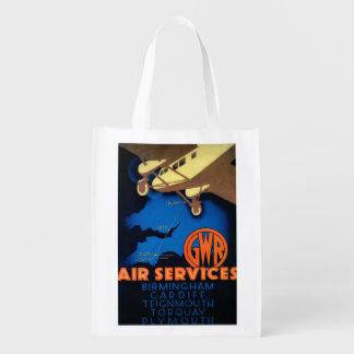 Vintage PosterEurope de los servicios aéreos de Bolsa De La Compra