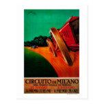 Vintage PosterEurope de Milano de los Di de Tarjetas Postales
