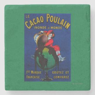 Vintage PosterEurope de Poulain del cacao Posavasos De Piedra