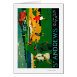 Vintage PosterEurope de Saint Andrews Tarjeta De Felicitación