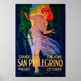 Vintage PosterEurope de San Pellegrino Póster