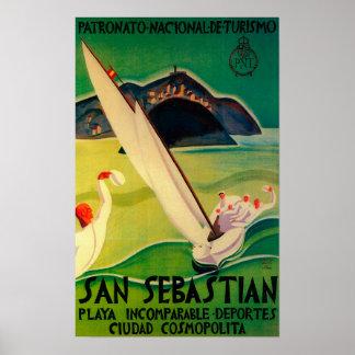 Vintage PosterEurope de San Sebastián Impresiones
