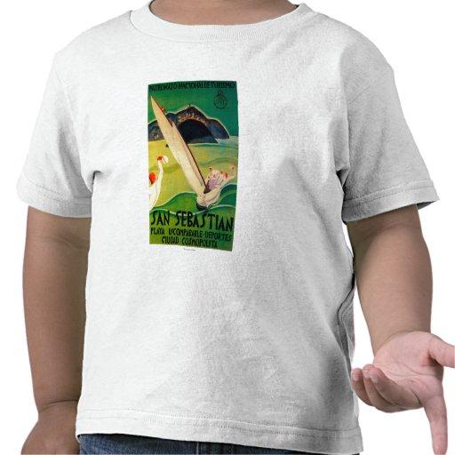 Vintage PosterEurope de San Sebastián Camisetas