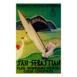 Vintage PosterEurope de San Sebastián Póster