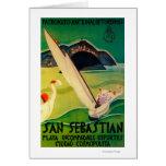 Vintage PosterEurope de San Sebastián Tarjeton
