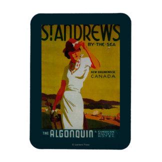 Vintage PosterEurope del Algonquin de Saint Rectangle Magnet