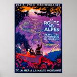 Vintage PosterEurope del DES Alpes de la ruta del Impresiones