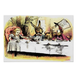VINTAGE POSTERS - ALICE AT THE TEA PARTY - BEST