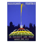 Vintage Posters, Chicago Buckingham Fountain WPA