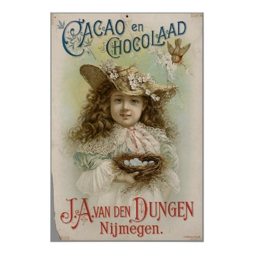 VINTAGE POSTERS - CHOCOLATE COMPANY ADVERTISEMENT